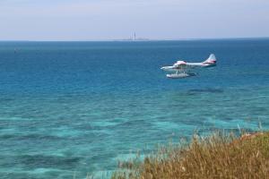 A landing float plane