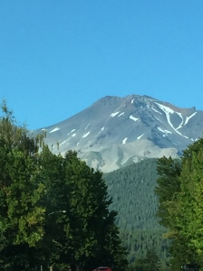 Mt Shasta in Northern Calif. Lacks snow...